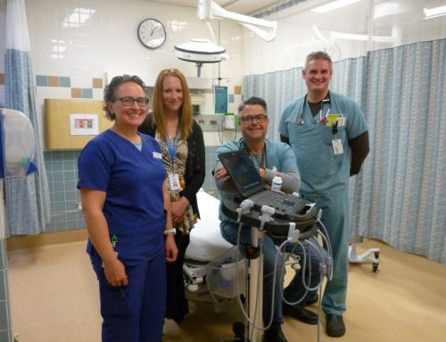 Donations to the Beausejour Hospital support patient care with the purchase of a portable ultrasound machine!