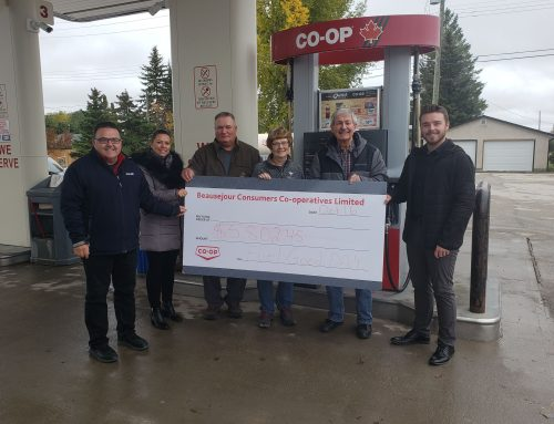 Co-op 2019 Fuel Good Day donates to the Beausejour TV Fund!