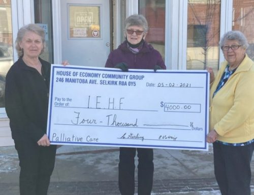 House of Economy Community Group gives generously to the Palliative Care Program!